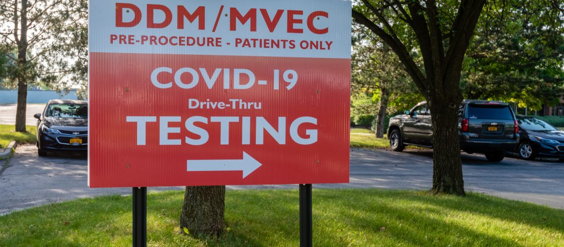 COVID Testing sign copy